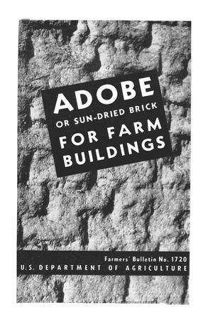 Primary view of object titled 'Adobe or sun-dried brick for farm buildings.'.