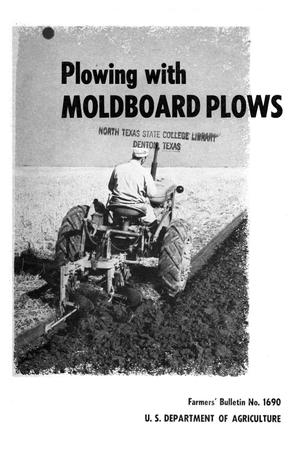 Primary view of object titled 'Plowing with moldboard plows.'.