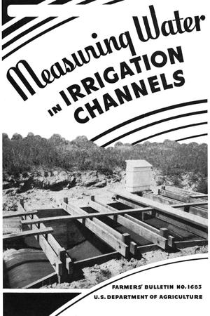 Primary view of object titled 'Measuring water in irrigation channels.'.
