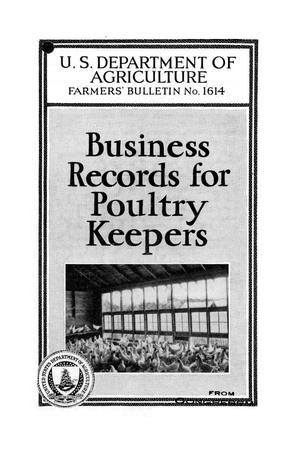 Primary view of object titled 'Business records for poultry keepers.'.