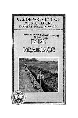 Primary view of object titled 'Farm drainage.'.