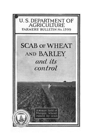 Primary view of object titled 'Scab of wheat and barley and its control.'.