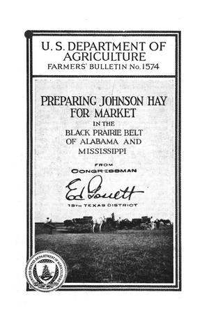 Primary view of object titled 'Preparing Johnson hay for market in the Black Prairie belt of Alabama and Mississippi.'.