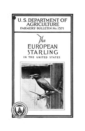 Primary view of object titled 'The European starling in the United States.'.