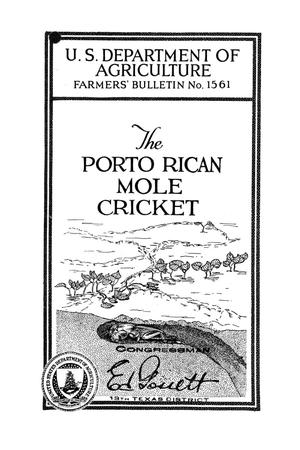 Primary view of object titled 'The Porto Rican mole cricket.'.
