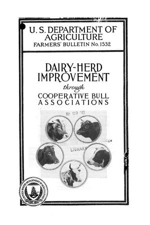Primary view of object titled 'Dairy-herd improvement through cooperative bull associations.'.