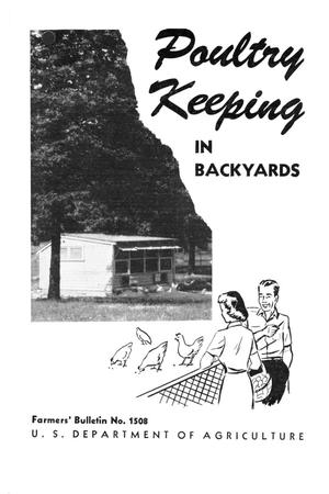 Primary view of object titled 'Poultry keeping in backyards.'.