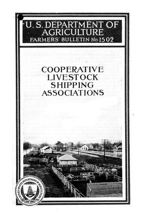 Primary view of object titled 'Cooperative livestock shipping associations.'.