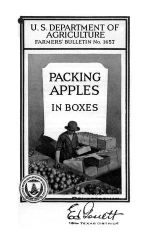 Primary view of object titled 'Packing apples in boxes.'.