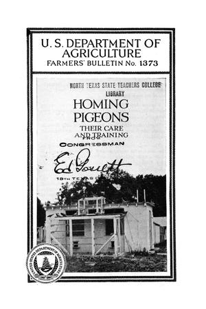 Primary view of object titled 'Homing pigeons : their care and training.'.