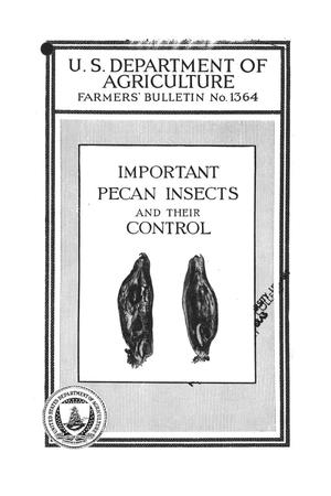 Primary view of object titled 'Important Pecan Insects and Their Control.'.