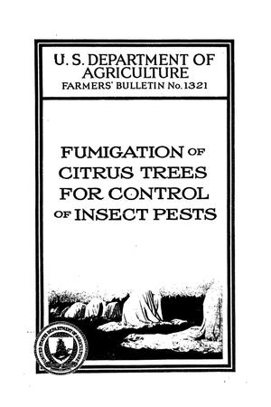Primary view of object titled 'Fumigation of citrus trees for control of insect pests.'.