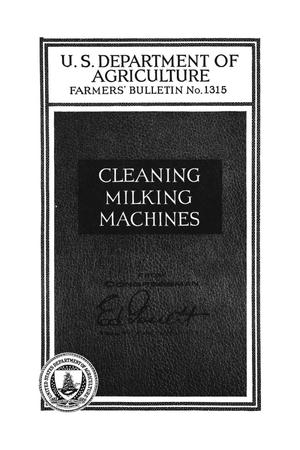 Primary view of object titled 'Cleaning milking machines.'.