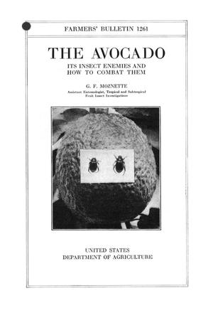 Primary view of object titled 'The avocado : its insect enemies and how to combat them.'.