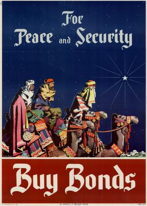 Primary view of object titled 'For peace and security: buy bonds.'.
