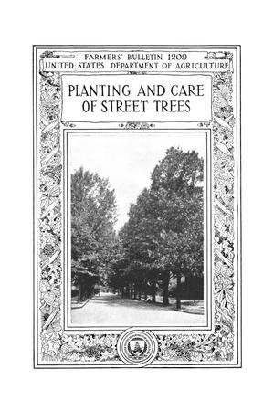 Primary view of object titled 'Planting and care of street trees.'.