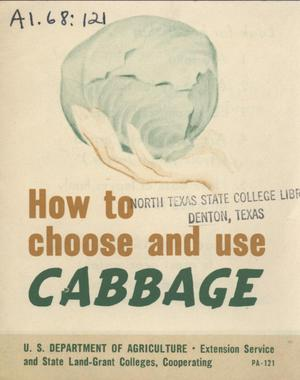 Primary view of object titled 'How to choose and use cabbage.'.