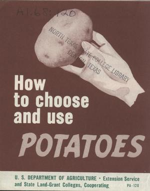 How to choose and use potatoes.
