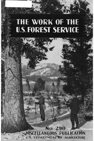 Primary view of object titled 'Work of the United States Forest Service.'.