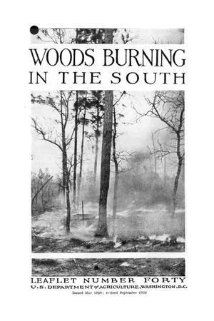 Primary view of Woods Burning in the South.