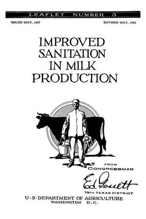 Primary view of object titled 'Improved sanitation in milk production.'.
