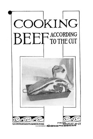 Primary view of object titled 'Cooking beef according to the cut.'.