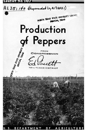 Primary view of object titled 'Production of Peppers'.