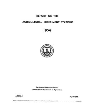 Primary view of object titled 'Report on the Agricultural Experiment Stations, 1954'.