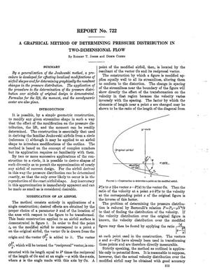 Primary view of object titled 'A graphical method of determining pressure distribution in two-dimensional flow'.