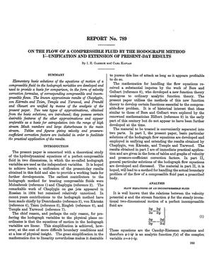 Primary view of object titled 'On the flow of a compressible fluid by the hodograph method 1: unification and extension of present-day results'.
