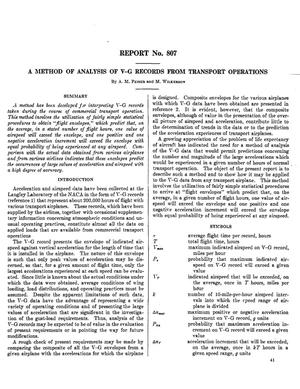 Primary view of object titled 'A method of analysis of V-G records from transport operations'.