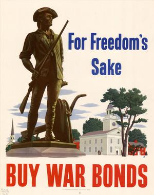 Primary view of object titled 'For freedom's sake : buy war bonds.'.