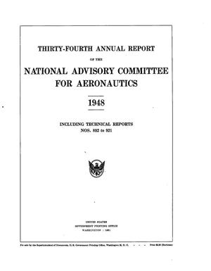 Primary view of object titled 'Annual report of the National Advisory Committee for Aeronautics (34th). administrative report including Technical Report nos. 892 to 921'.