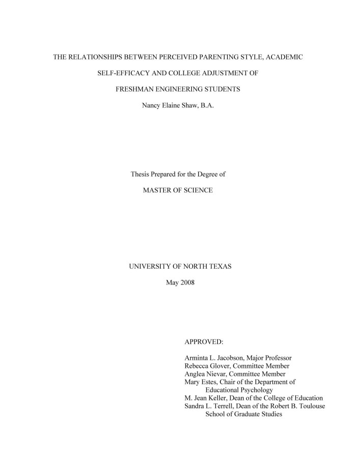 engineering thesis title
