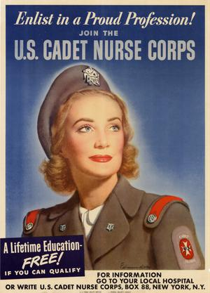 Primary view of Enlist in a proud profession! : join the U.S. Cadet Nurse Corps.