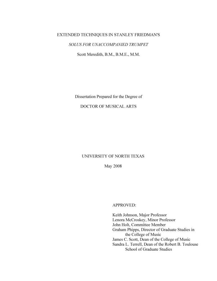 unaccompanied minor dissertation A survey of the unaccompanied violin repertoire, centering on works by j s bach and eugene ysaÿe by yu-chi wang dissertation submitted to the faculty for the graduate school of the.