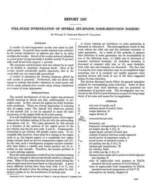 full scale investigation   jet engine noise reduction nozzles unt digital library