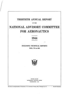 Primary view of object titled 'Annual report of the National Advisory Committee for Aeronautics (30th).administrative report including Technical Report nos. 774 to 803'.