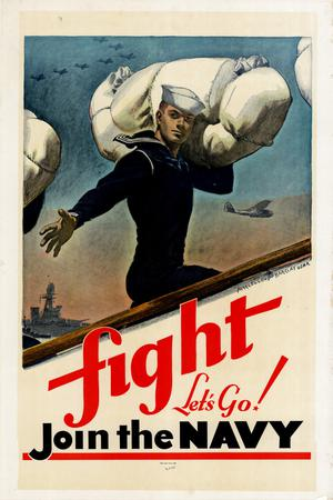 Primary view of object titled 'Fight, let's go! : join the Navy.'.