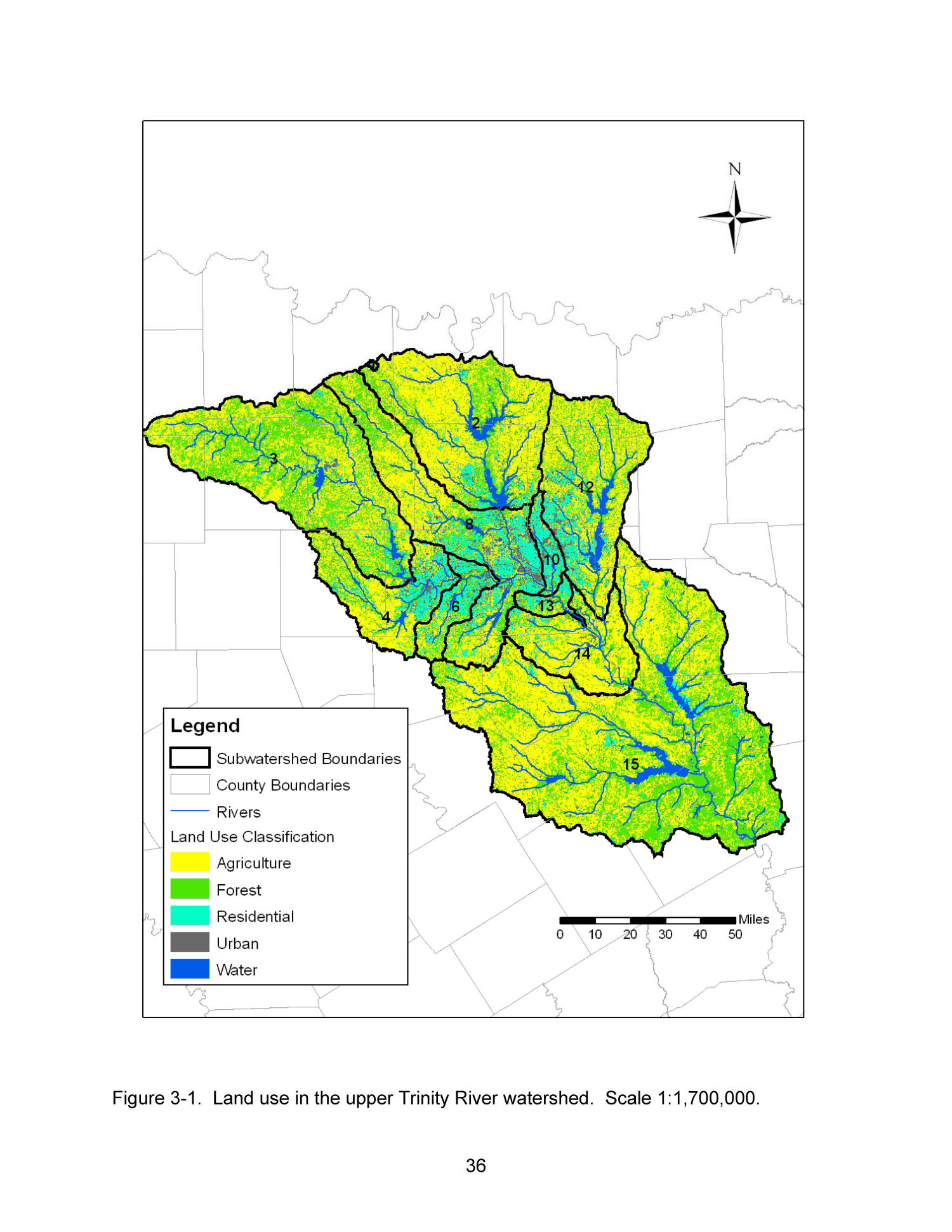 upper trinity river watershed - HD1500×1941