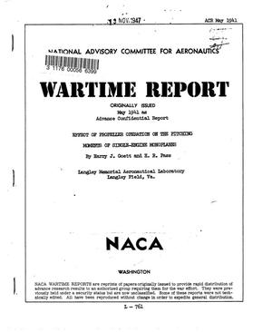 Primary view of object titled 'Effect of propeller operation on the pitching moments of single-engine monoplanes'.