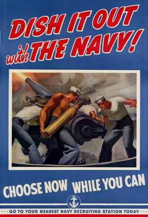 Primary view of object titled 'Dish it out with the Navy! : Choose now while you can.'.