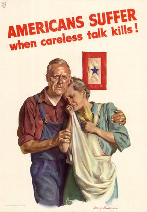 Primary view of object titled 'Americans suffer when careless talk kills!'.