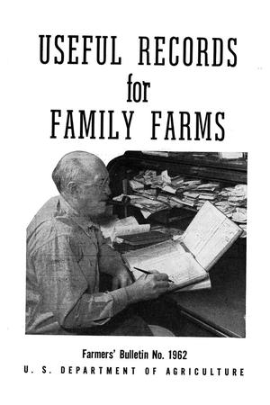 Primary view of object titled 'Useful records for family farms.'.