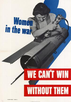 Women in the war : we can't win without them.