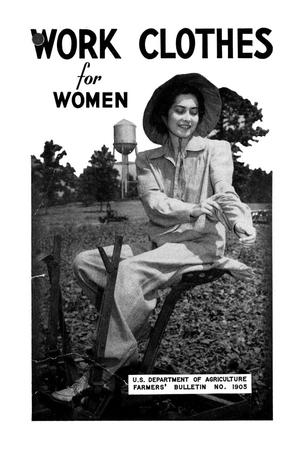 Primary view of object titled 'Work clothes for women.'.