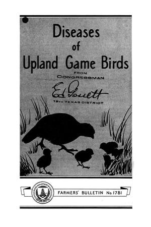 Primary view of object titled 'Diseases of upland game birds.'.