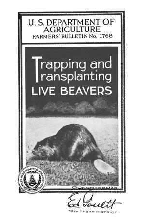 Primary view of object titled 'Trapping and transplanting live beavers.'.