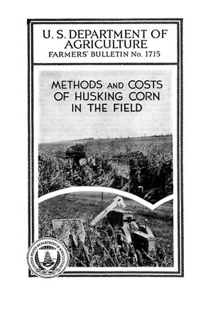 Primary view of object titled 'Methods and costs of husking corn in the field.'.