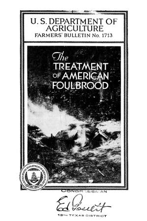 Primary view of object titled 'The treatment of American foulbrood.'.